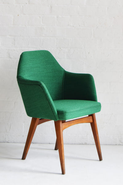 Retro Benchair restored in Svensson Green Wool by Florrie + Bill
