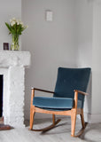 Blue Velvet Parker Knoll Rocking Chair - Florrie + Bill