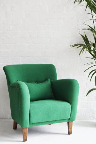 Green Wool Vintage Chair