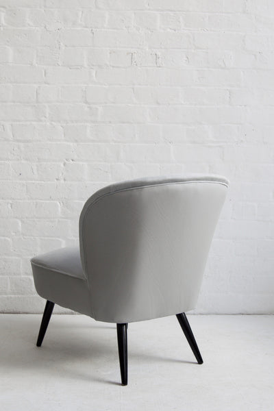 Leather + Cotton Cocktail Chair