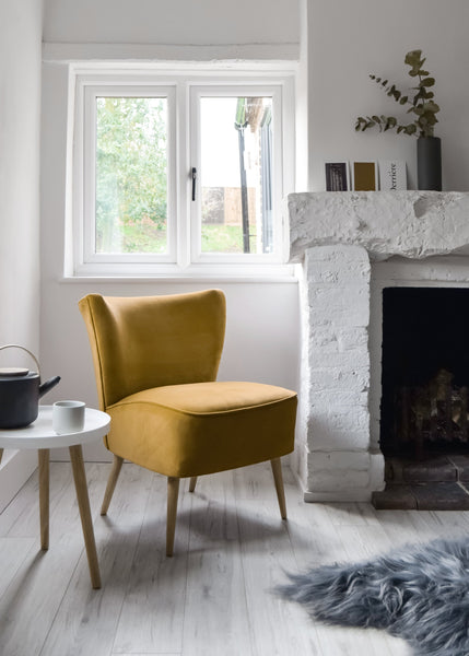 Gold Velvet Cocktail Chair - Florrie + Bill