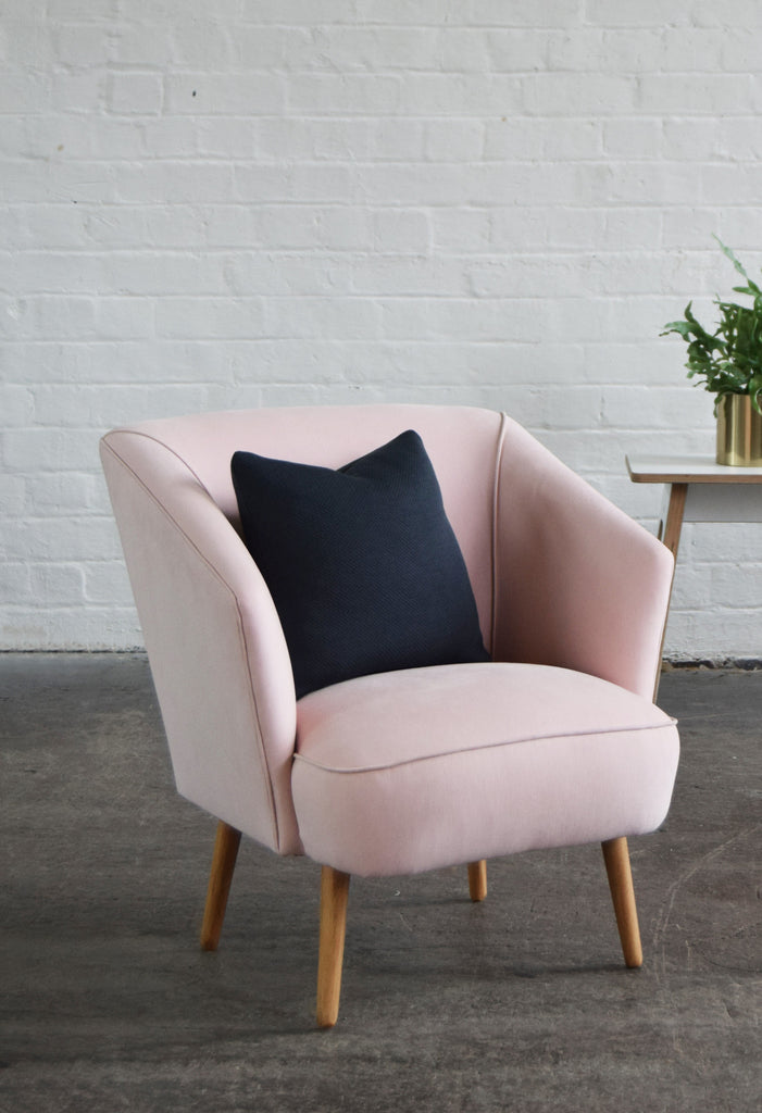 ... The Florence Armchair In Blush Pink From Florrie+Bill ...