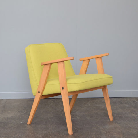 Yellow Retro Armchair