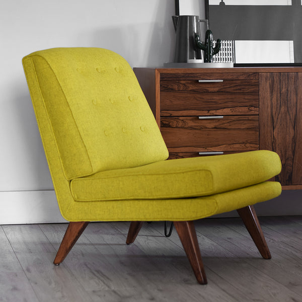 E Gomme Chair in Sulphur Yellow Eco Wool