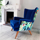 Vintage G Plan Chair in Timorous Beasties Kaleido Splatt velvet