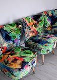 Vintage Cocktail Chair in Timorous Beasties Fabric