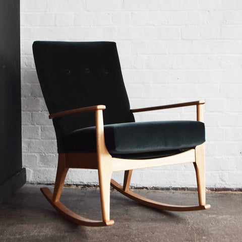 Velvet Parker Knoll Rocking Chair