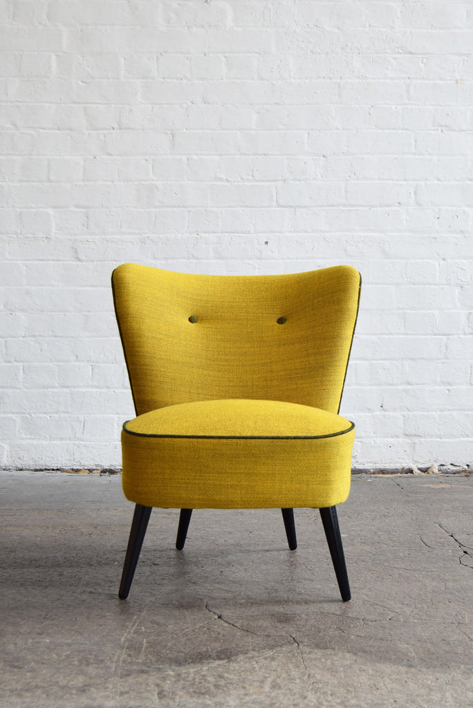 Superb ... Vintage Cocktail Chair In Svensson Yellow Wool ...
