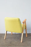 Florrie + Bill Restored Yellow Wool Retro Chierowski Chair