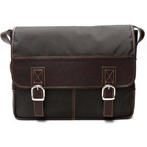 Nylon and Leather Messenger