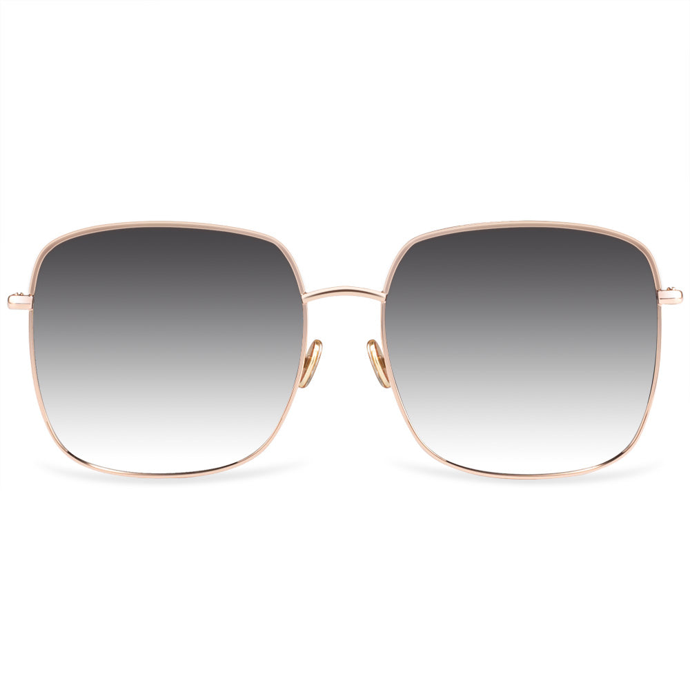 Landon Full Rim Metallic Square Sunglasses With Prescription Lenses