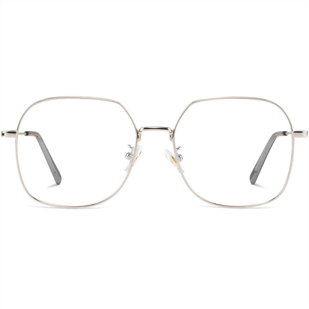 January Full Rim Metallic Square Aviator Frame With Prescription Lenses