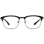 Dakota Full Rim Metallic Square Browline Tortoise Frame With Prescription Lenses