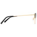 Clara Full Rim Metallic Square Browline Frame With Prescription Lenses | Charm Optical