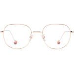 Reese Full Rim Metallic Round Frame With Prescription Lenses