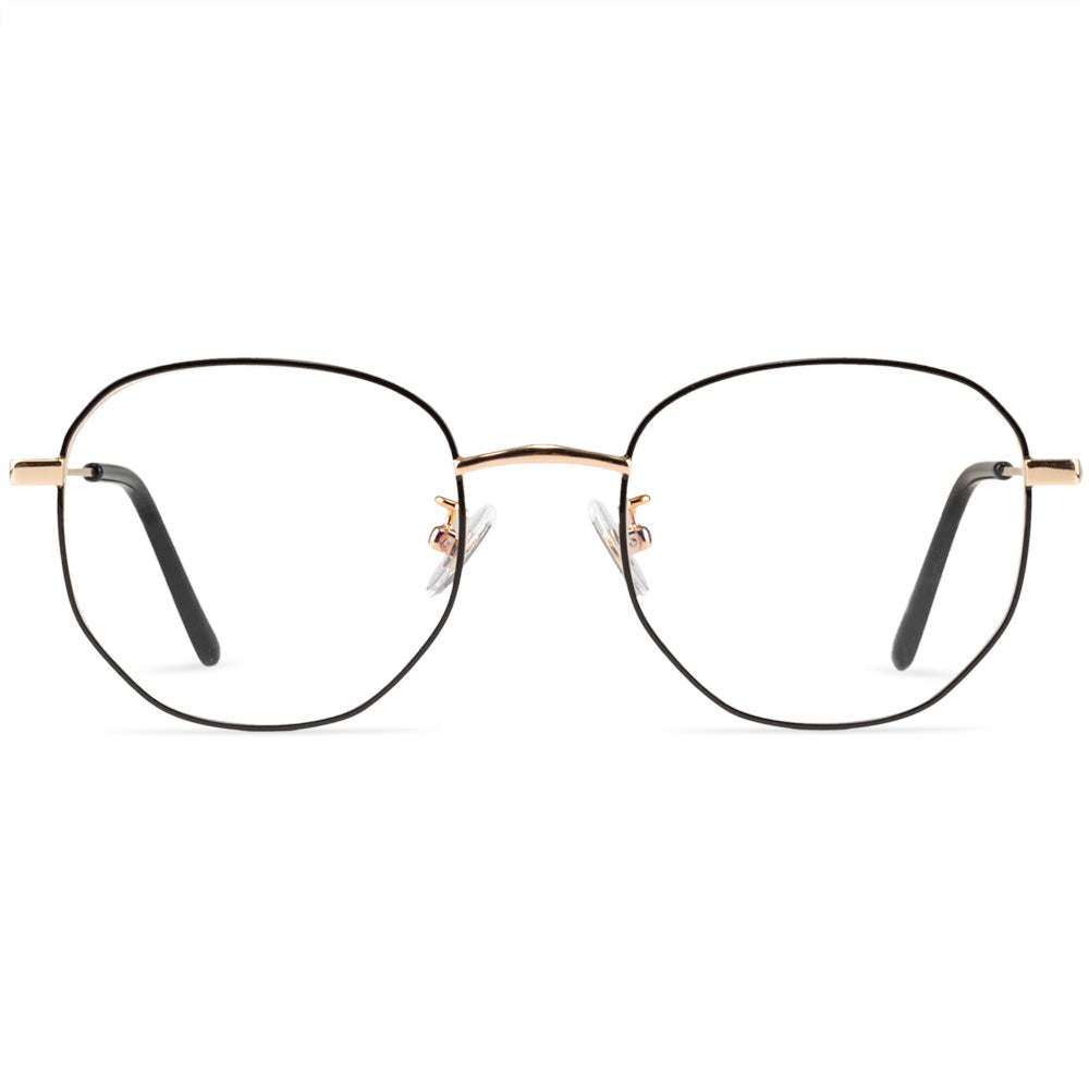 Madison Full Rim Metallic Round Frame With Prescription Lenses
