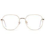 Maxwell Full Rim Metallic Round Frame With Prescription Lenses