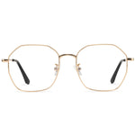 Hayden Full Rim Metallic Square Frame With Prescription Lenses