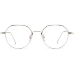 Morgan Full Rim Metallic Round Frame With Prescription Lenses