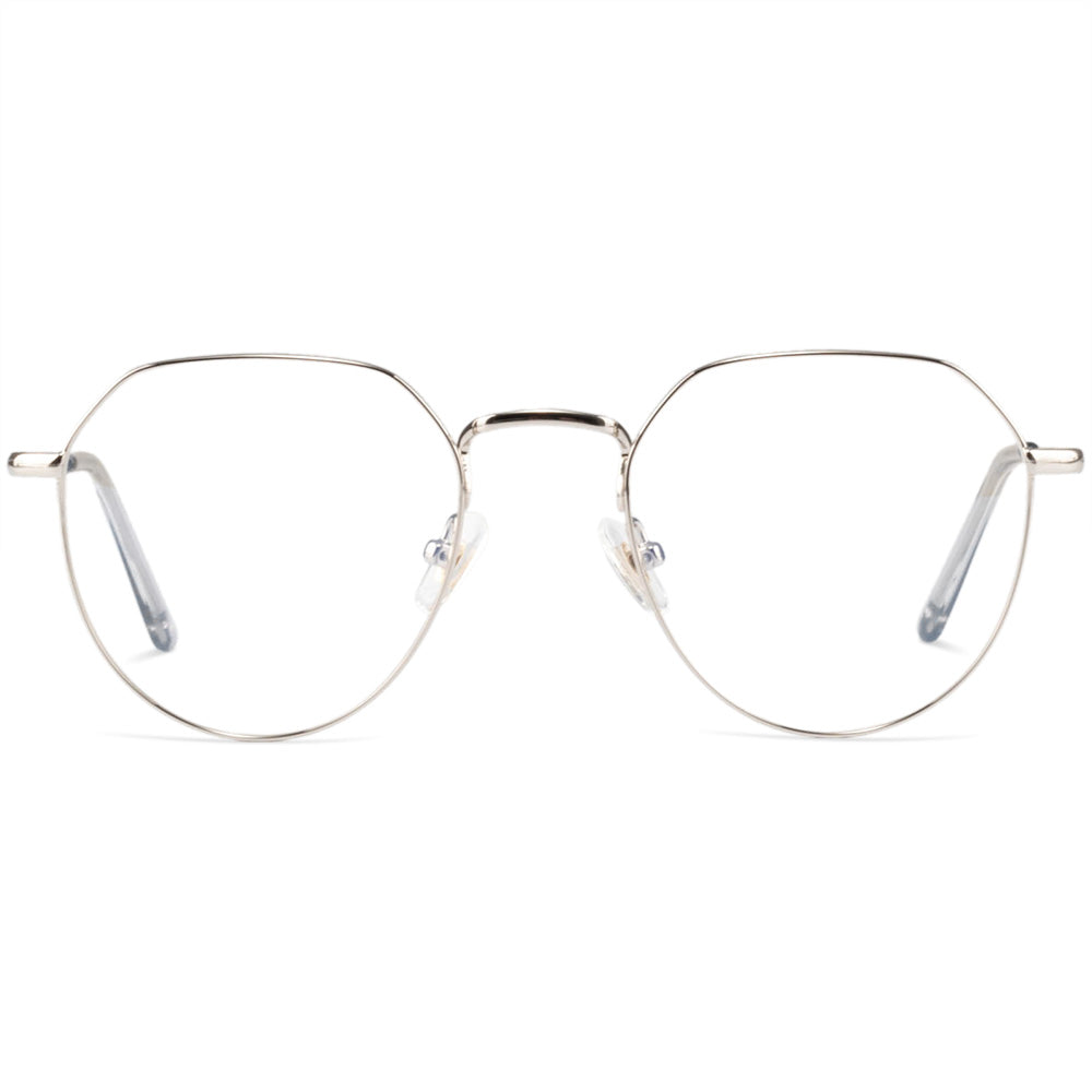 Anastasia Full Rim Metallic Aviator Frame With Prescription Lenses