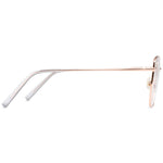 Quinn Full Rim Metallic Aviator Frame With Prescription Lenses | Charm Optical