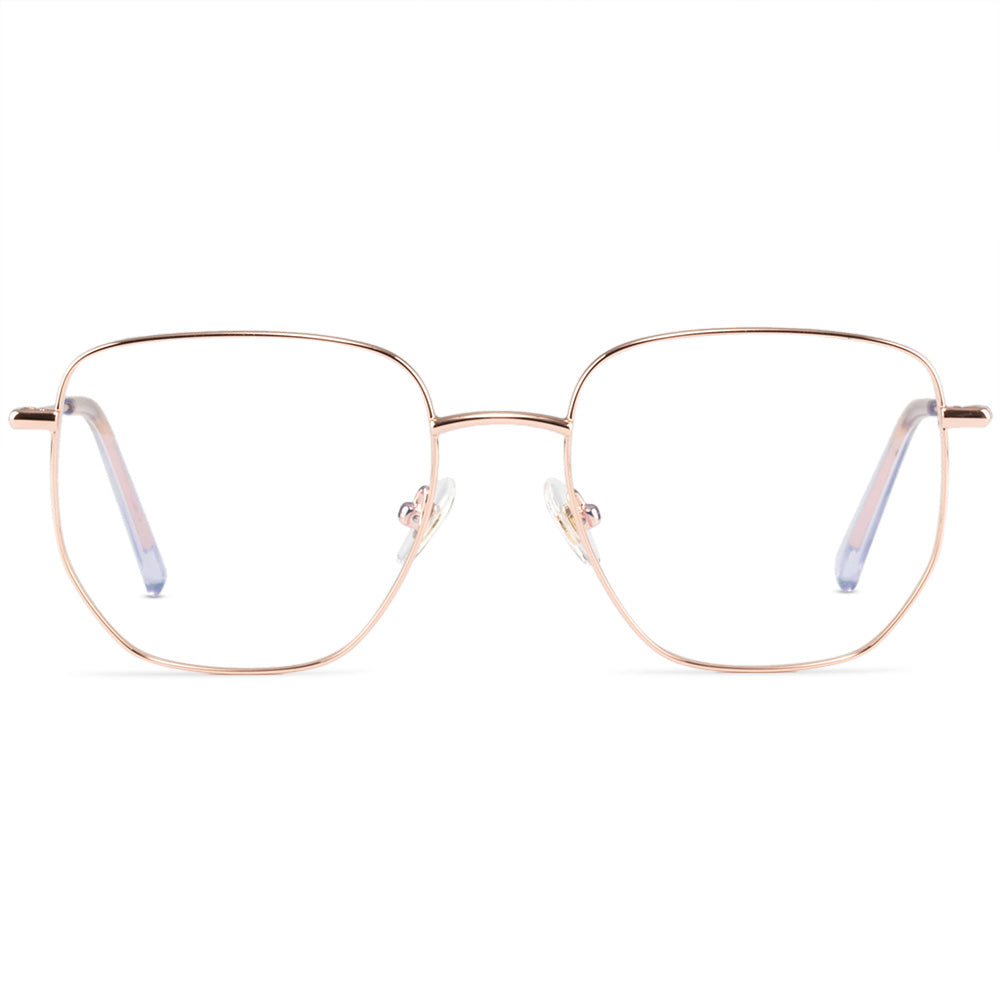 Quinn Full Rim Metallic Aviator Frame With Prescription Lenses