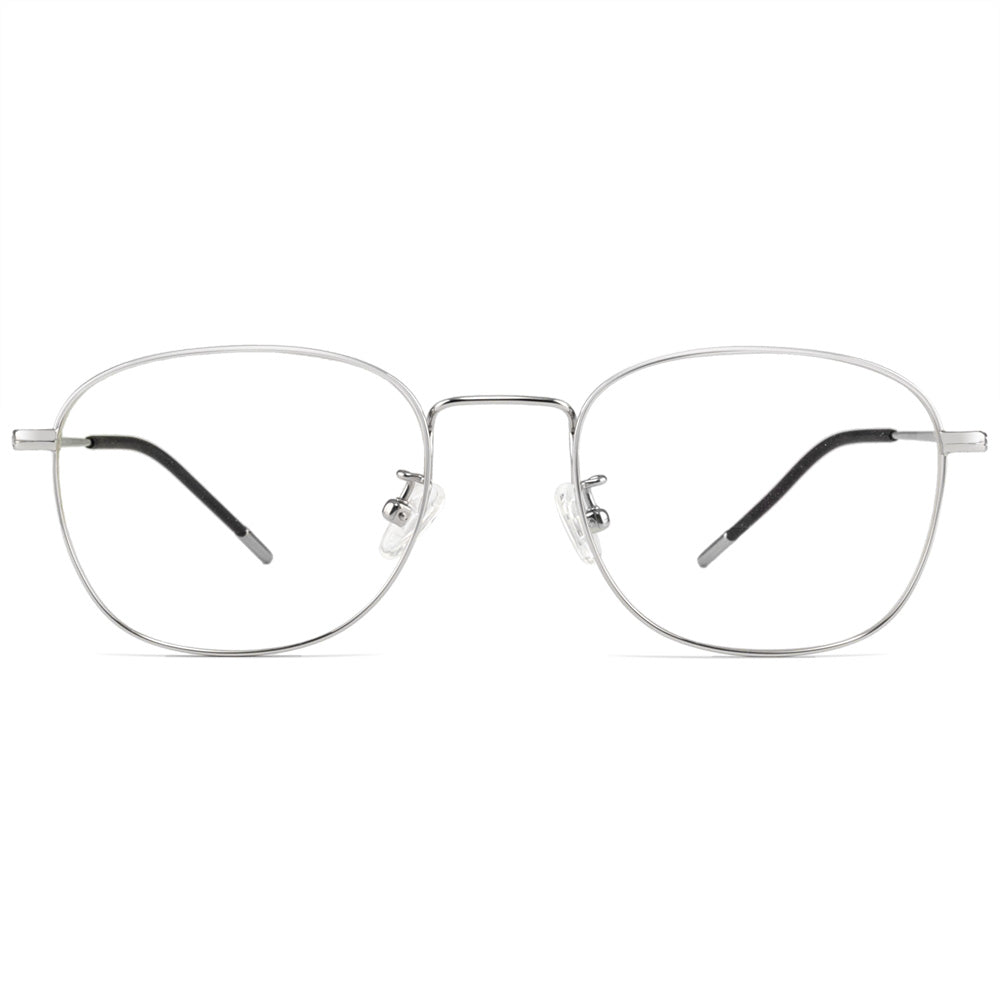 Leia Full Rim Titanium Round Frame With Prescription Lenses
