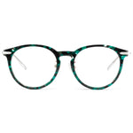 August Full Rim Metallic/Plastic Round Cat Eye Tortoise Frame With Prescription Lenses