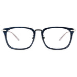 Blair Full Rim Metallic/Plastic Square Tortoise Frame With Prescription Lenses
