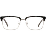 Debra Full Rim Metallic/Plastic Browline Frame With Prescription Lenses