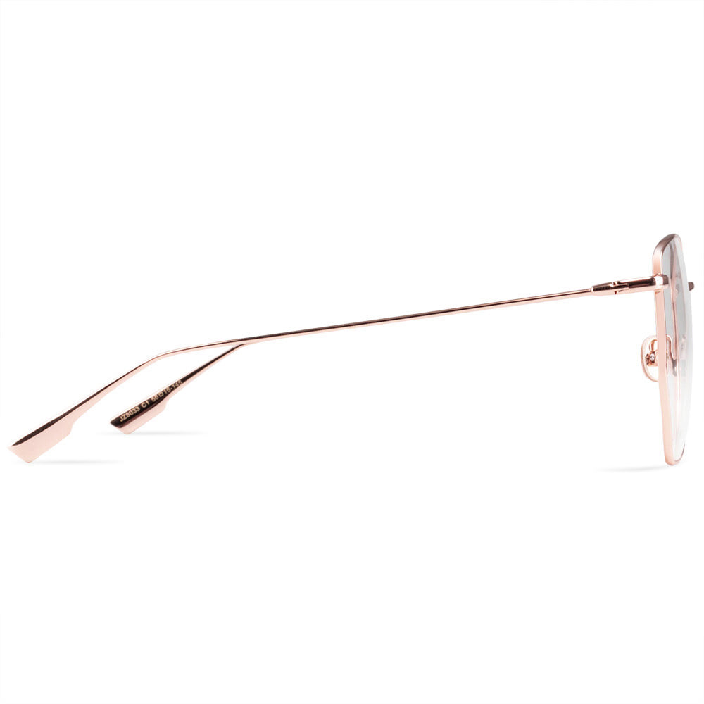 Angel Full Rim Metallic Cat Eye Aviator Frame With Prescription Lenses | Charm Optical