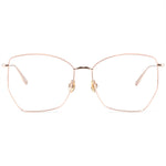 Angel Full Rim Metallic Cat Eye Aviator Frame With Prescription Lenses