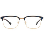 Moon Full Rim Metallic/Fabric Square Frame With Prescription Lenses