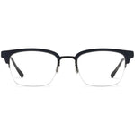 Kennedy Half Rim Metallic/Plastic Square Browline Frame With Prescription Lenses