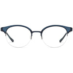 Dylan Half Rim Metallic/Plastic Round Browline Frame With Prescription Lenses