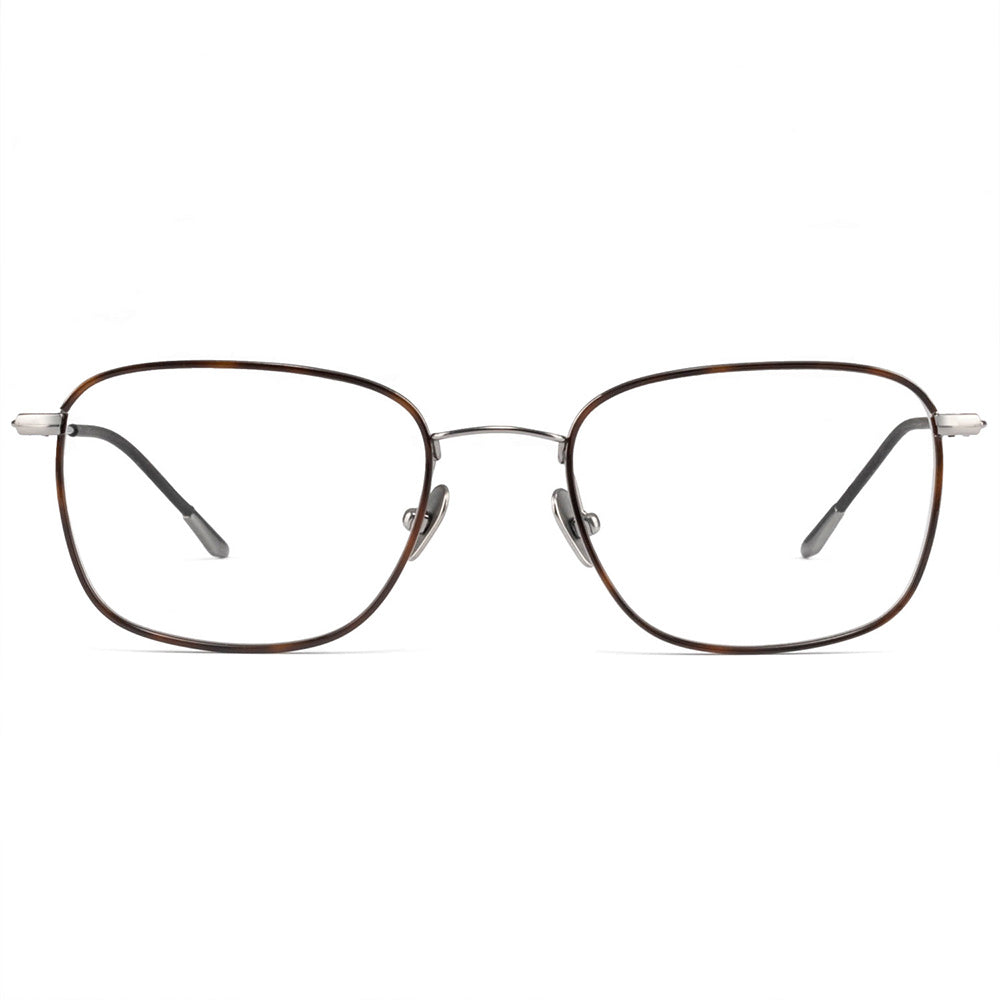 Evelyn Windsor Full Rim Titanium Square Tortoise Frame With Prescription Lenses