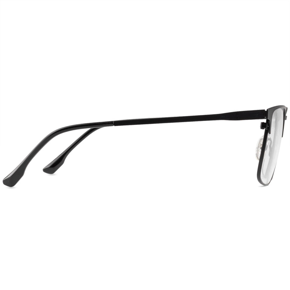 Adam Full Rim Metallic Square Frame With Prescription Lenses | Charm Optical