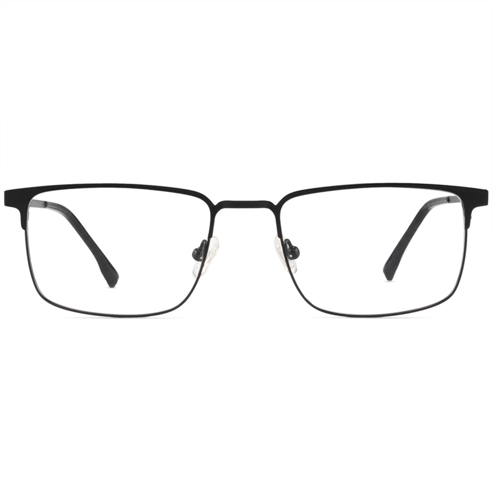 Adam Full Rim Metallic Square Frame With Prescription Lenses