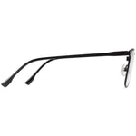 Peter Full Rim Metallic Square Frame With Prescription Lenses | Charm Optical