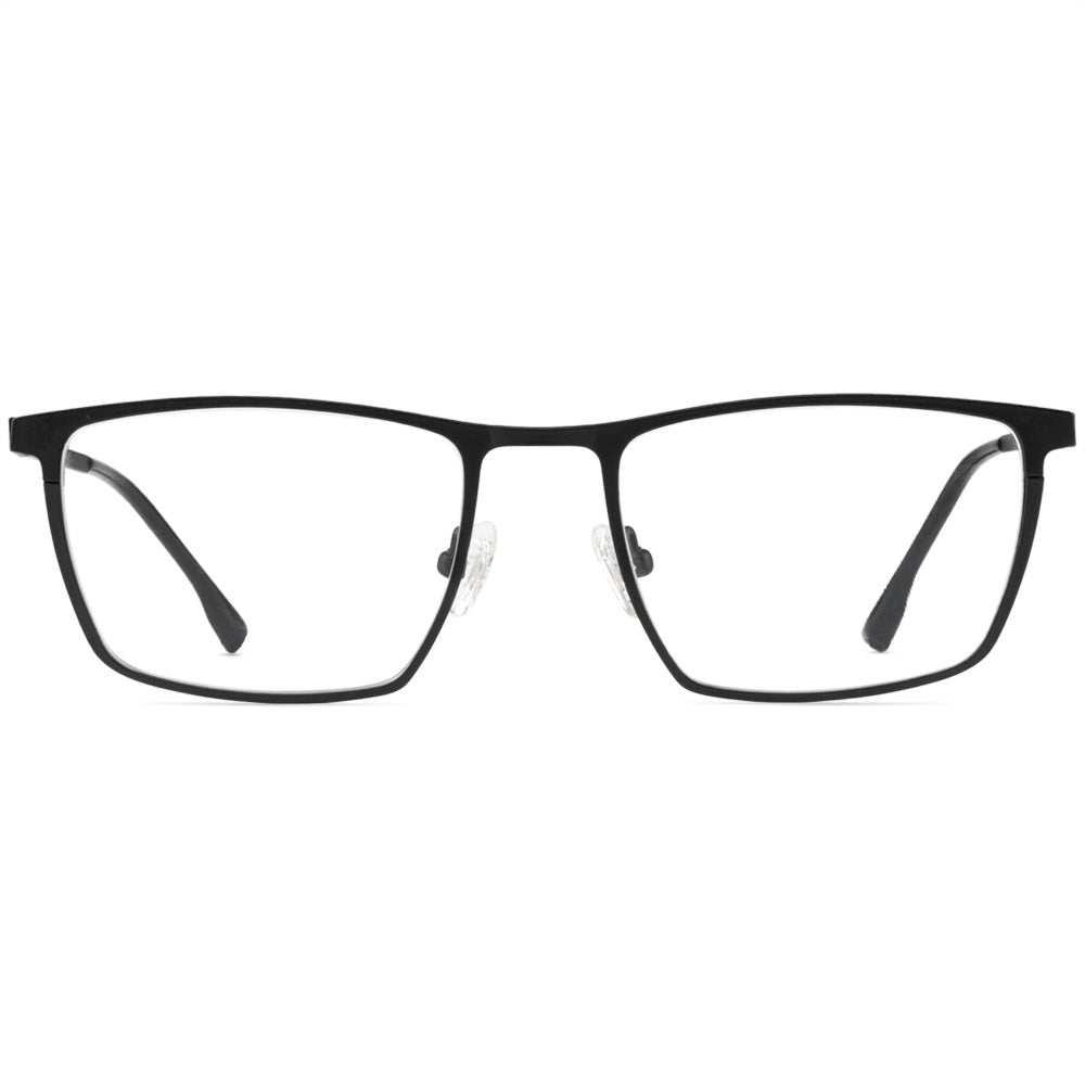 Peter Full Rim Metallic Square Frame With Prescription Lenses