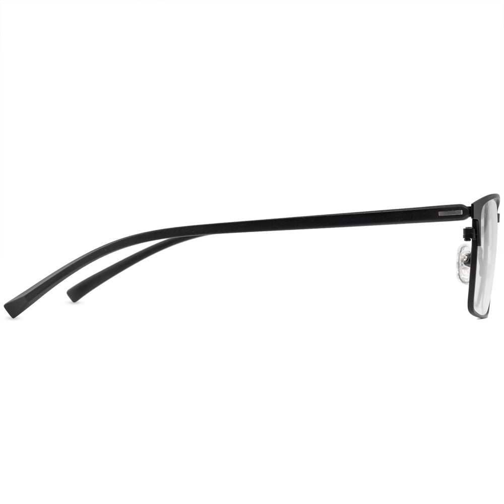 Matthew Full Rim Metallic Square Frame With Prescription Lenses | Charm Optical