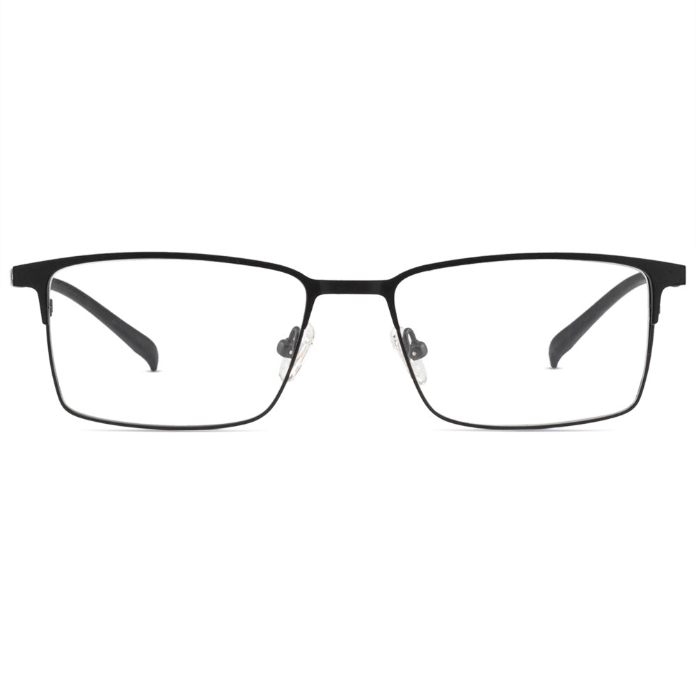 Matthew Full Rim Metallic Square Frame With Prescription Lenses