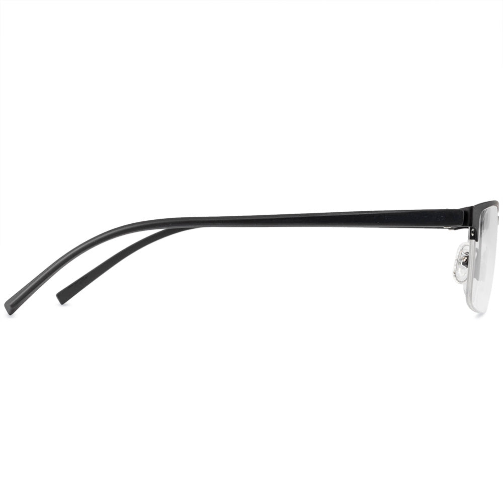Julius Half Rim Metallic Rectangle Frame With Prescription Lenses | Charm Optical
