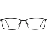 Andrew Full Rim Metallic Rectangle Frame With Prescription Lenses