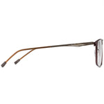 Gabriel Full Rim Metallic Square Frame With Prescription Lenses | Charm Optical