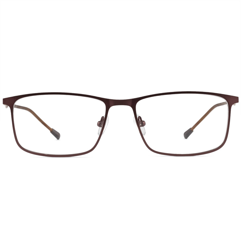 Gabriel Full Rim Metallic Square Frame With Prescription Lenses