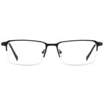Dennis Half Rim Metallic Square Frame With Prescription Lenses