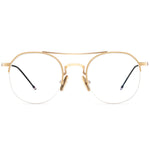 Marisol Half Rim Metallic Round Frame With Prescription Lenses