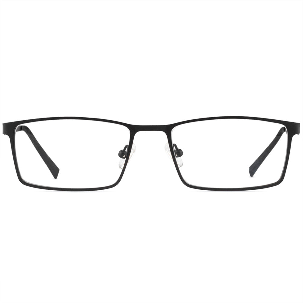 Jayson Full Rim Metallic Square Frame With Prescription Lenses