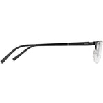 Jayson Half Rim Metallic Square Frame With Prescription Lenses | Charm Optical